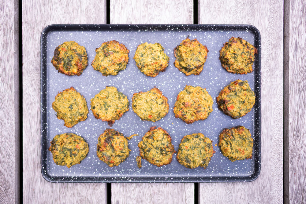 Chickpea & Spinach Baked Bhajis